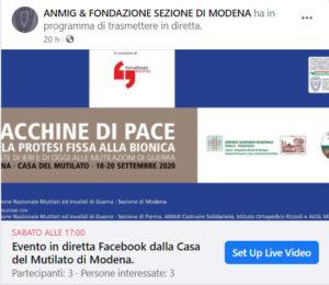Diretta Facebook Macchine di Pace